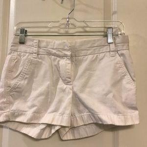 J. Crew White Chino Shorts